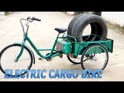 Build Electric Cargo Bike Using 750W Reducer Brushless Motor