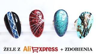 Nowości paznokciowe z Aliexpress + zdobienia * Spider Gel i żele kolorowe Saviland * Candymona
