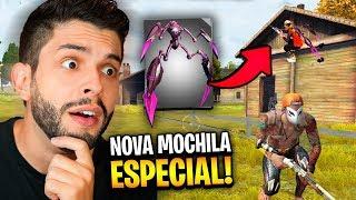 TESTEI A VERDADEIRA FUNÇÃO DA MOCHILA ARANHA NO FREE FIRE!!