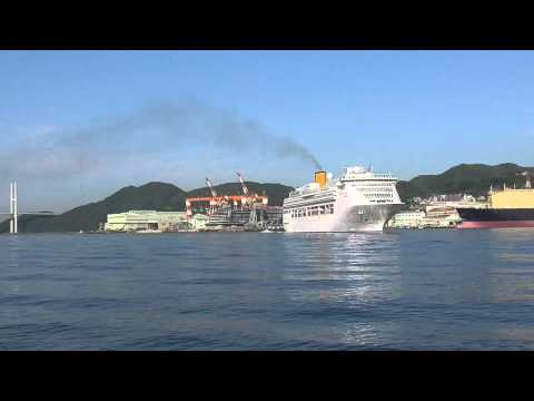 COSTA VICTORIA arrive in Nagasaki port Japan 26th May 2015 Early Morning20150526 074146