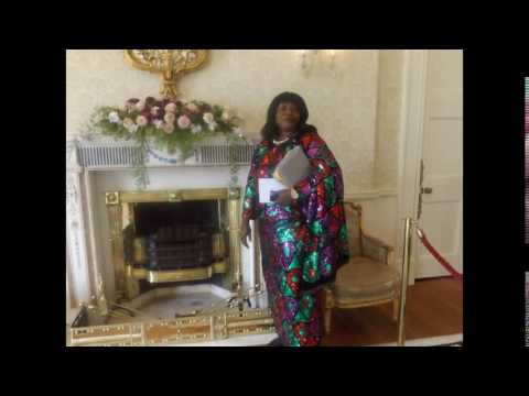 DTV's Carol Azams at the President of Ireland's residence