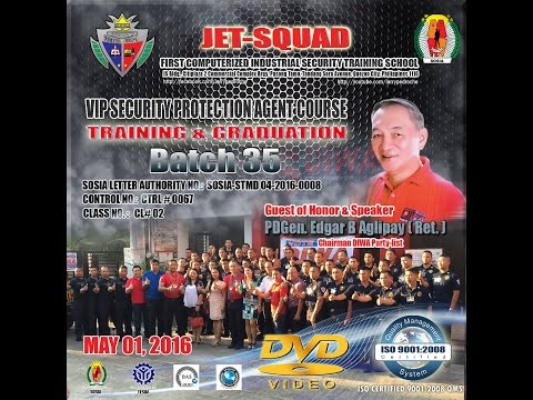 JET-SQUAD EXECUTIVE PROTECTION AGENTS GRADUATION CEREMONY, BATCH 35