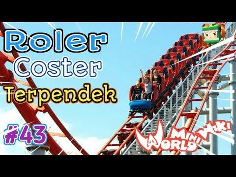 ROLLER COSTER Di Mini World Block Art Survival Indonesia Episode 43 - 동영상