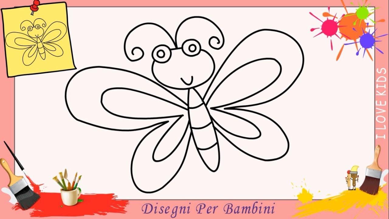 Come disegnare un farfalla facile passo per passo per for Coniglio disegno per bambini