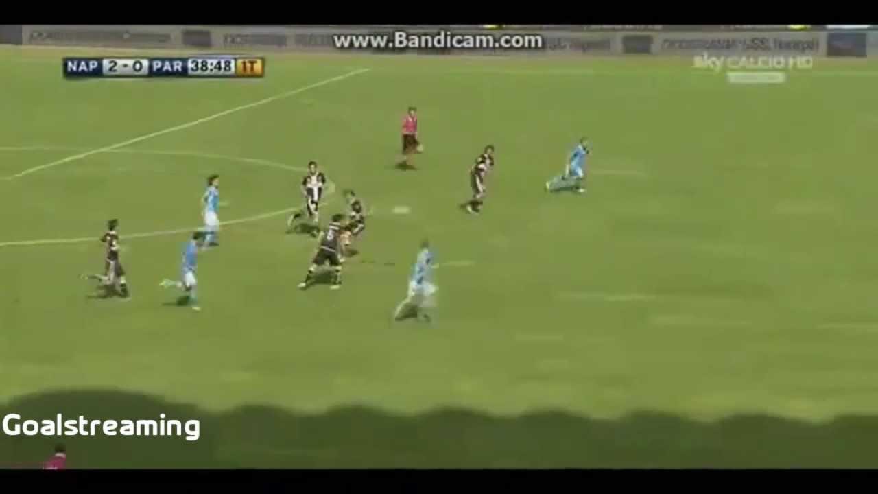 Napoli Vs Parma 3-1 [16/09/2012] - YouTube