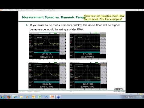 Anritsu Webinar: Tracking Generator Applications for RF and Microwave 2/12/13