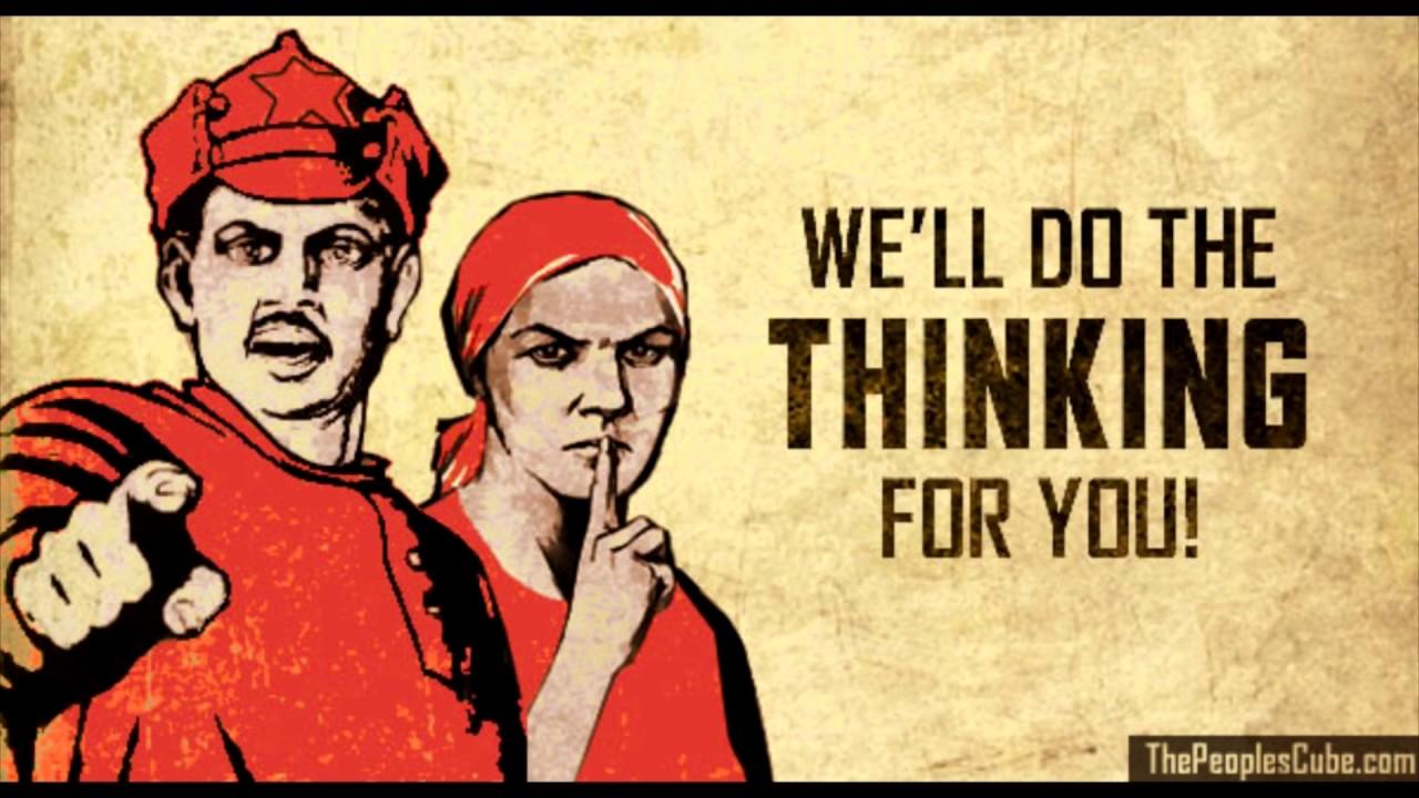 Orwell Slogans + Dystopian Music