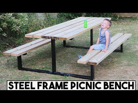 HOW TO BUILD A STEEL FRAME PICNIC TABLE