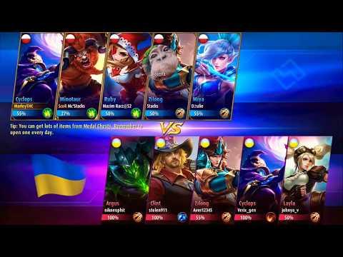 Mobile Legends! Poland VS Ukraine Amazing match.
