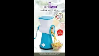 ROTARY GRATER AND SLICER 6 IN 1
