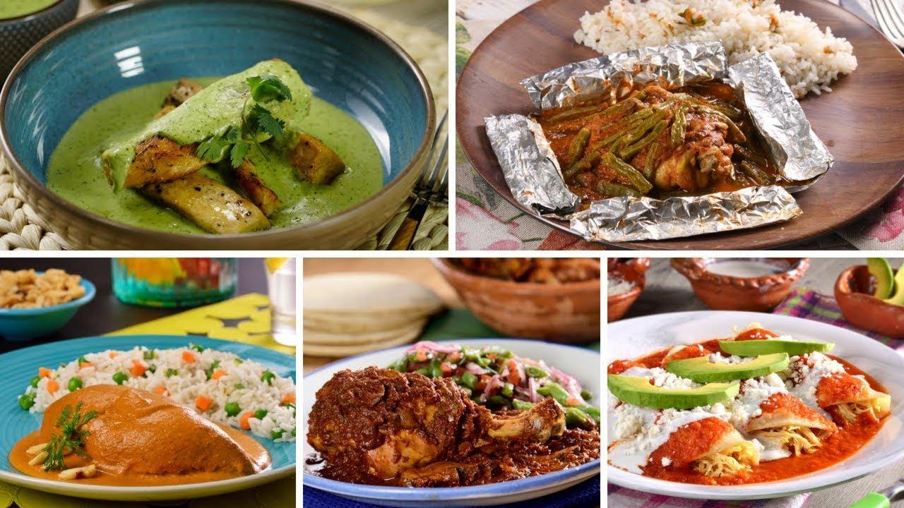 Comida Mexicana Con Pollo