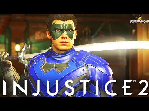 """NIGHTWING THE STAFF OF GRAYSON!!! - Injustice 2 """"Nightwing"""" Gameplay (Epic Staff of Grayson)"""