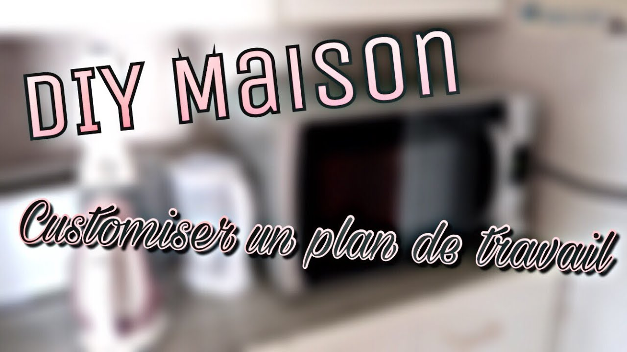 diy n 6 diy maison customiser un plan de travail youtube. Black Bedroom Furniture Sets. Home Design Ideas
