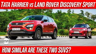 Tata Harrier vs Land Rover Discovery Sport | Two Different SUV Cut from The Same Cloth | evo India