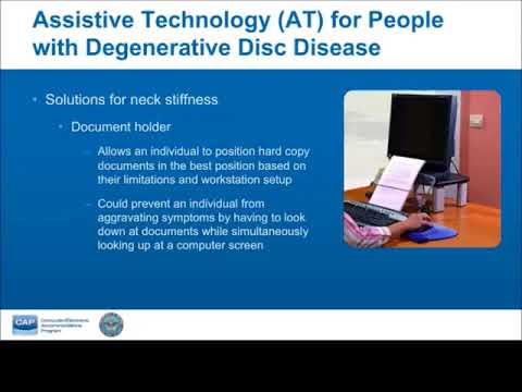 Let's Talk Tech: Accommodating Employees with Degenerative Disc Disease