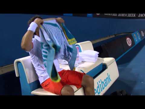Marcos Baghdatis Destroys FOUR Racquets | Australian Open 2012