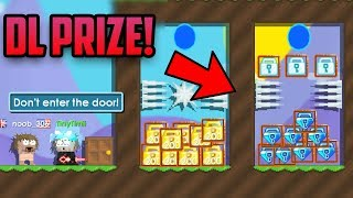 You ENTER, you LOSE! (DL prize) | growtopia funny prank