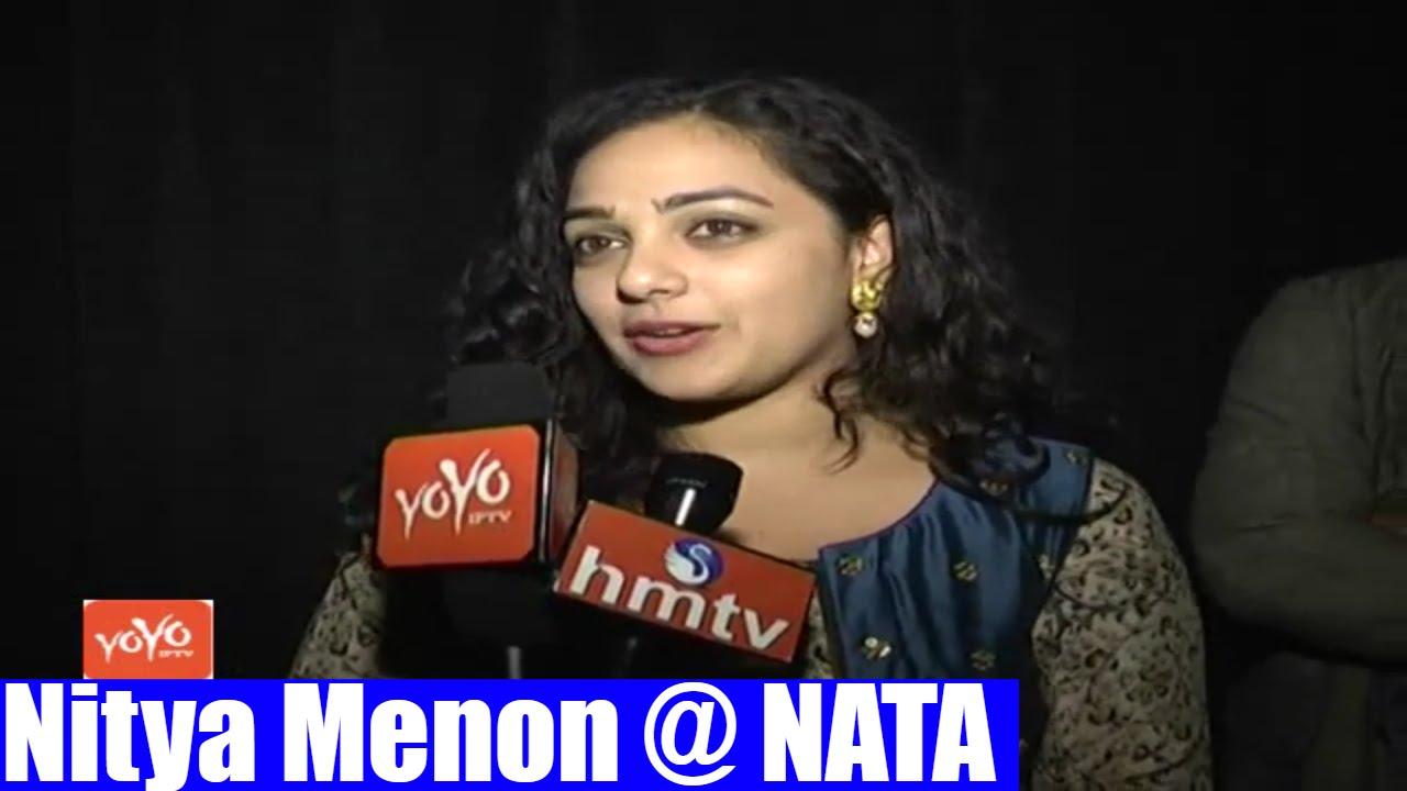 indian film actress & play back singer nithya menon at nats dallas