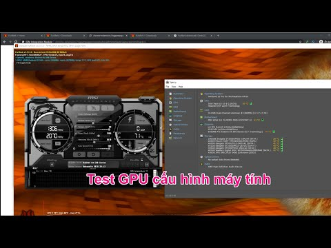 hướng dẫn sử dụng furmark - Test kiểm tra card GPU VGA máy tính có siêu mạnh không video 1080 - 2k - 4k - 5k - 8k overclock GPU
