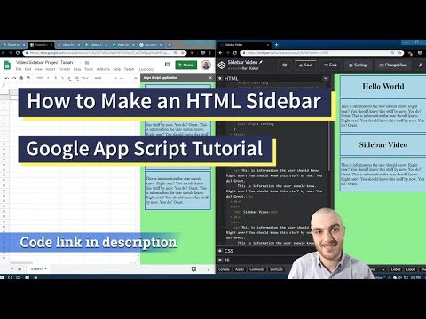 How To Make A Sidebar In Google Apps Script With HTML And CSS