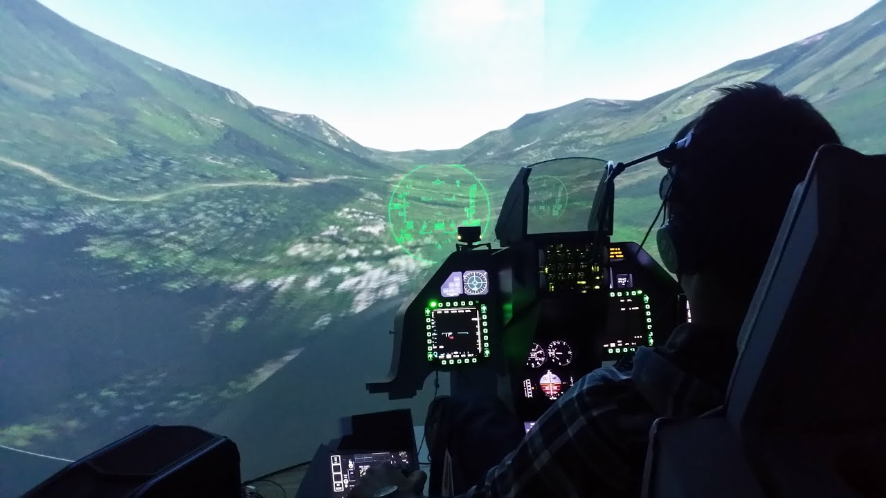F-16 cockpit simulator frame - ready and painted to your door