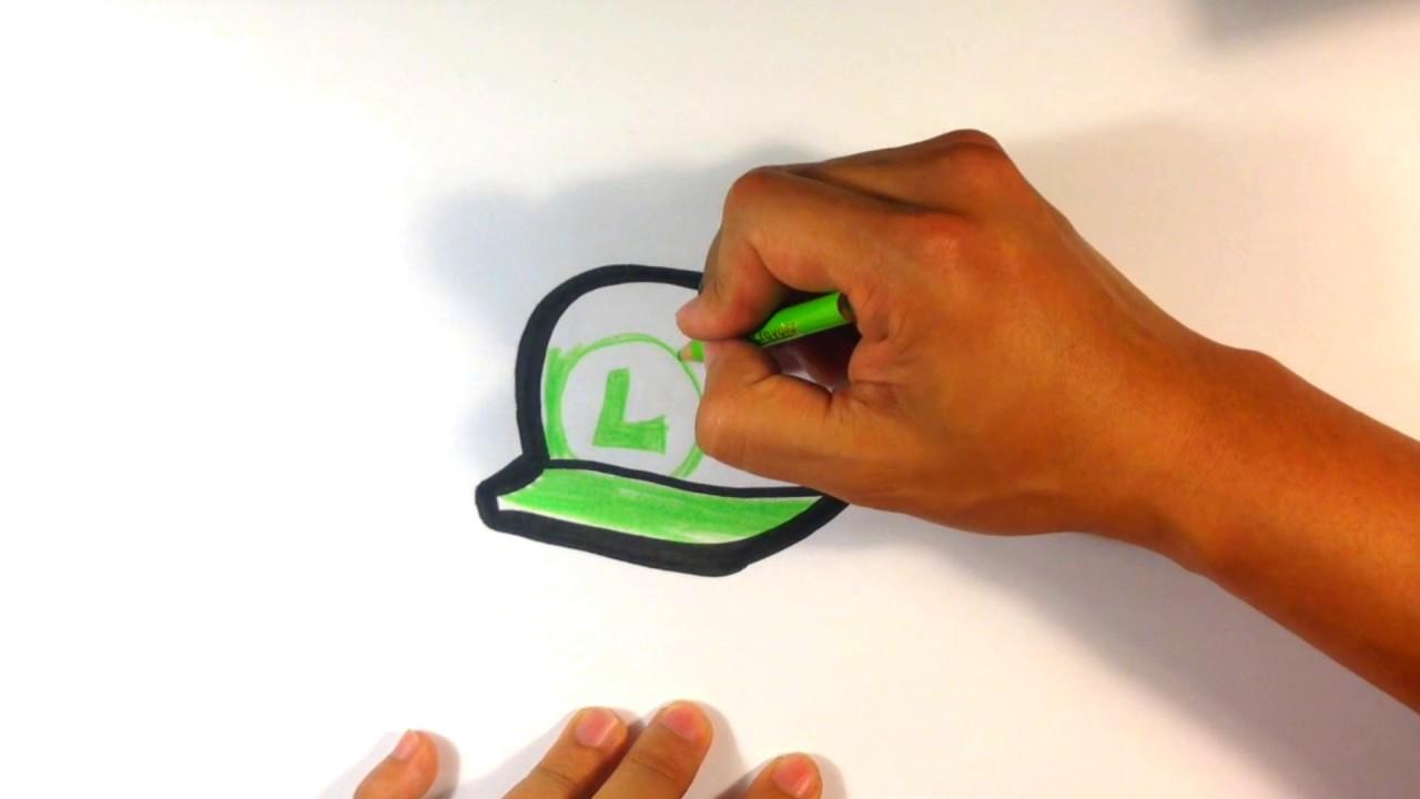 How To Draw Mario Bros Luigi Hat Youtube