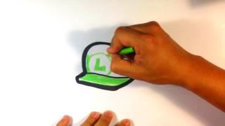 How to Draw Mario Bros - Luigi Hat