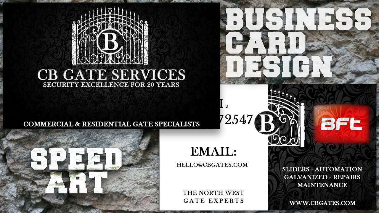 Photoshop cc 2015 business card design youtube reheart Image collections