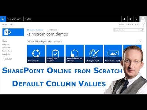 SharePoint Categorization - Default Column Values