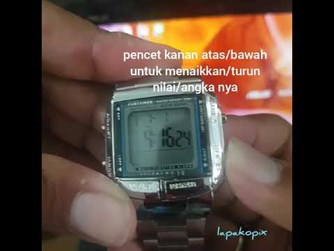 Cara Setting Jam Fortuner Model Casio DB 360 Original LapakOpix