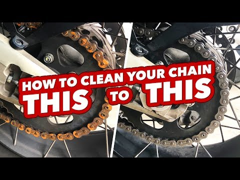 How To Clean A Rusted Motorcycle Chain...