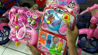 Belanja Mainan anak perempuan || mainan dokter-dokteran warna pink || toys review unboxing