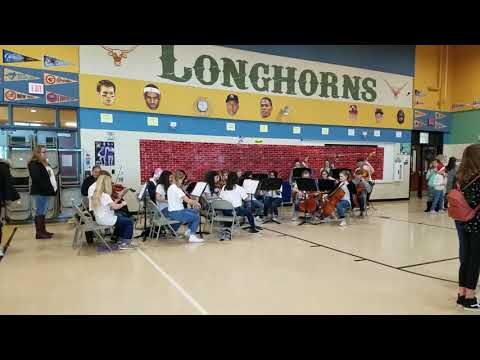Truett Wilson Middle School performing at Sendera Ranch Elementary School for Pancakes with Santa