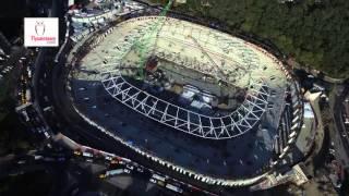 Beşiktaş Vodafone Arena İnönü Stadyumu Havadan Son Görüntüsü 18 Kasım 2015