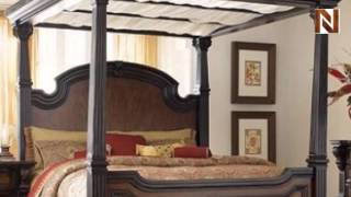 Grand King Panel Bed With Canopy C7102-03-04-08-09 By Fairmont Designs