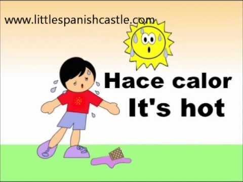 Spanish Vocabulary - El tiempo y el clima /weather - YouTube
