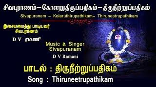 Thiruneetru Pathigam || Manthiramavathu Neeru || Irandam Thirumurai || D V Ramani || Vijay Musical
