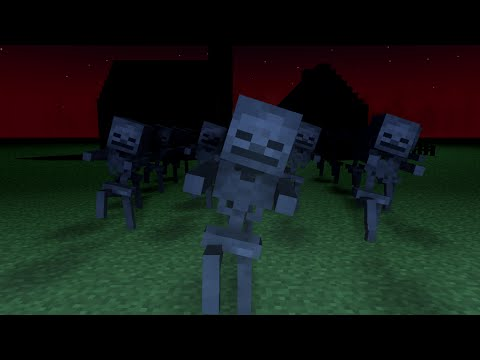 Minecraft  Spooky Scary Skeletons Remix  Minecraft Animation Music
