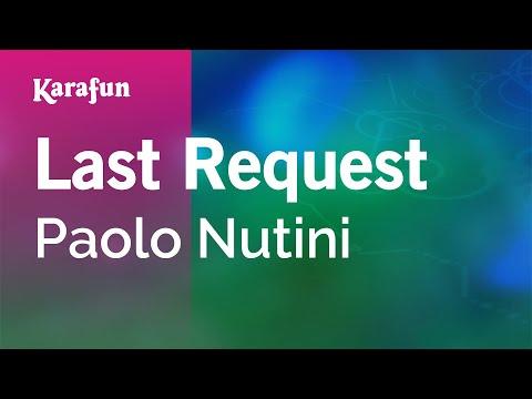 Karaoke Last Request  Paolo Nutini *