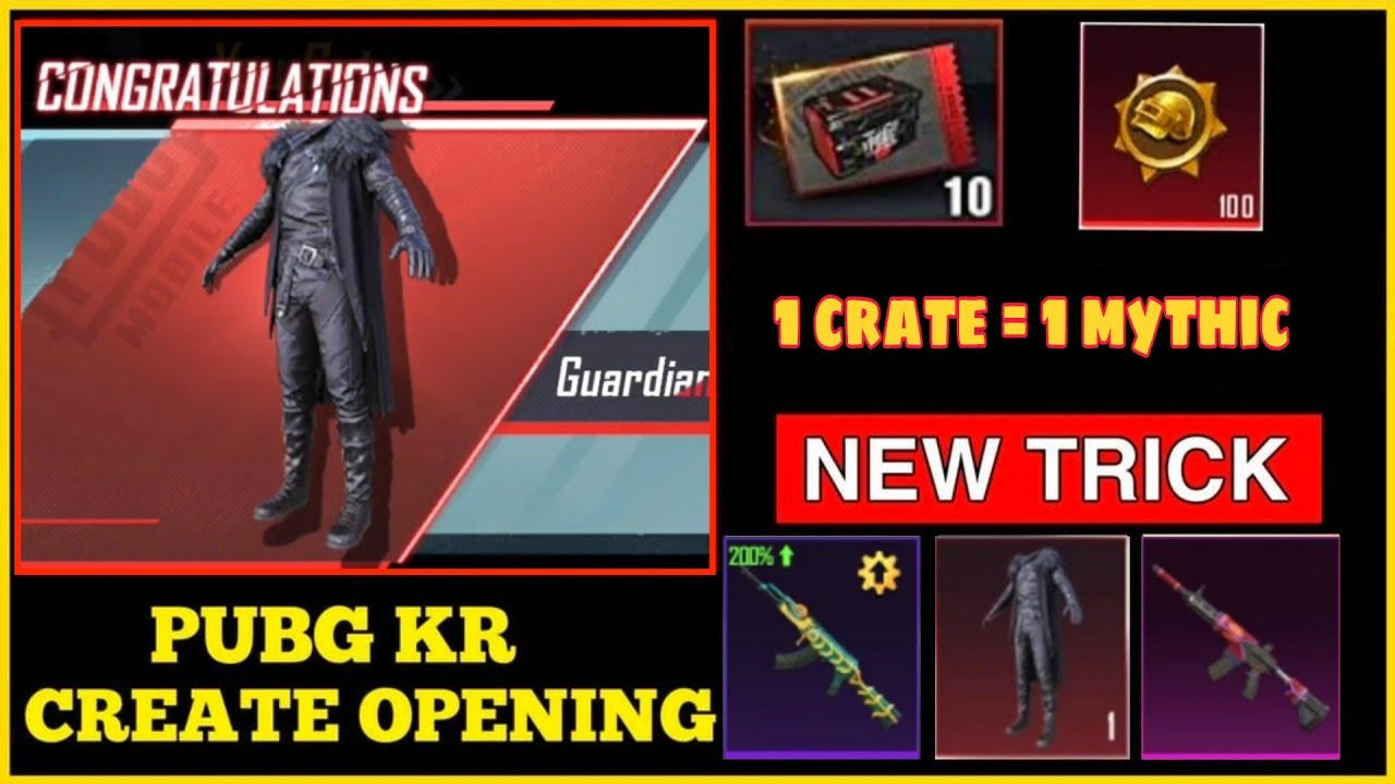 PUBG KR CRATE OPENING NEW TRICKS 🔥 I GET 100% MYTHIC OUTFIT I PUBG KR I Leo GamingYT
