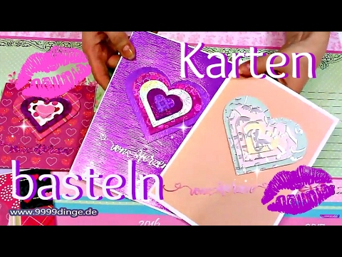 karten basteln ideen basteln mit papier diy anleitung valentinstagskarte youtube. Black Bedroom Furniture Sets. Home Design Ideas