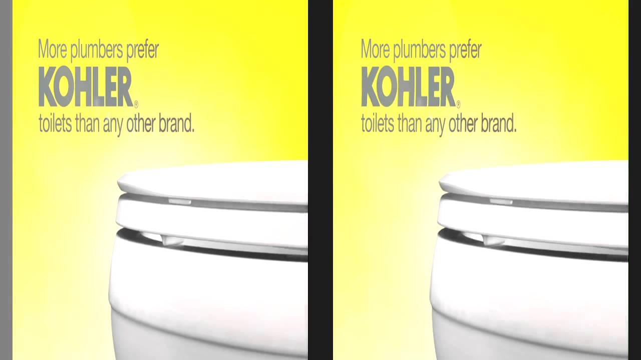 kohler cimarron toilet featuring aquapiston technology
