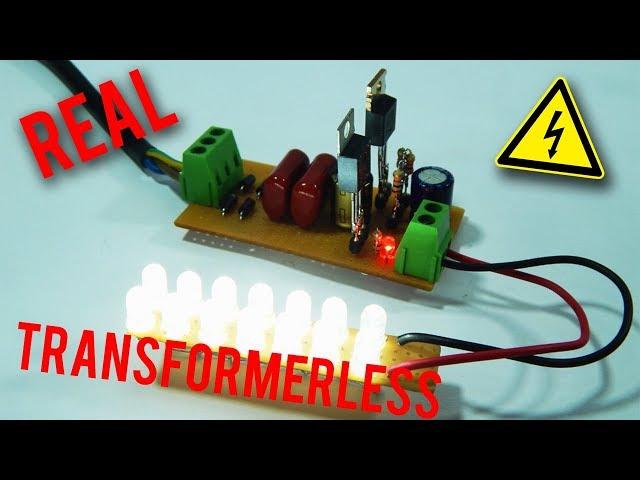 Diy Real Transformerless Power Supply