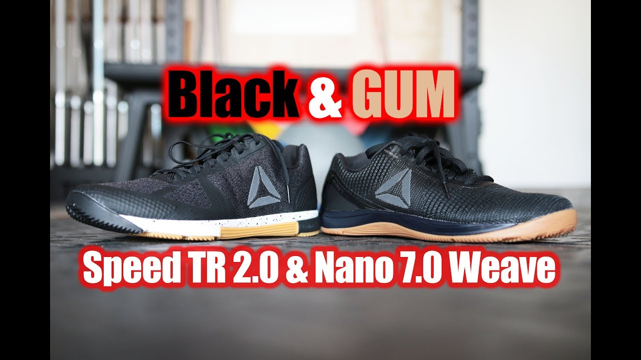 75b6157ae6c Reebok CrossFit Nano 7.0 Weave Speed 2.0 BLACK   GUM First Look On Feet