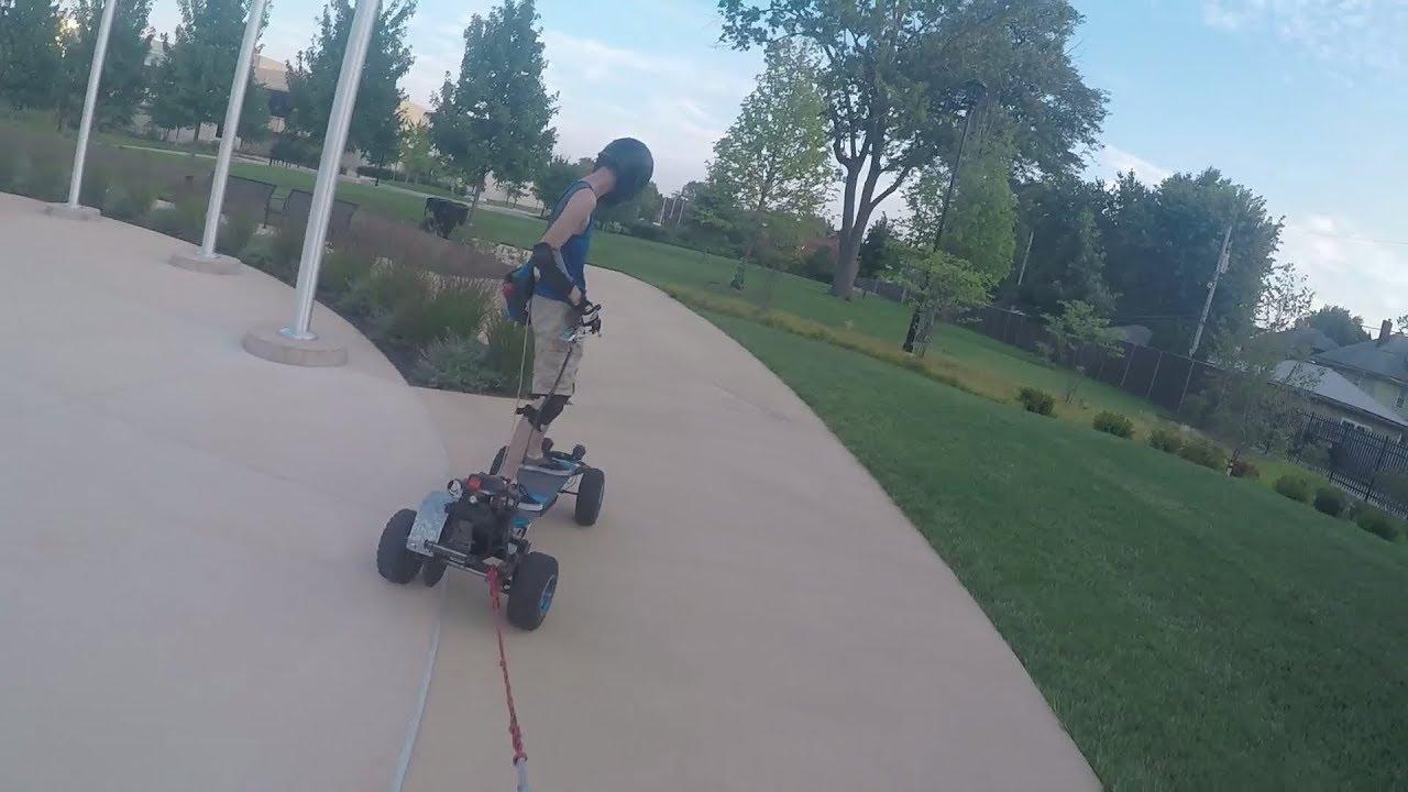 how to make a gas powered skateboard