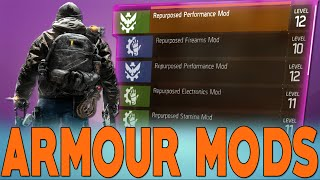 The Division, How To Equipt Armour MODS