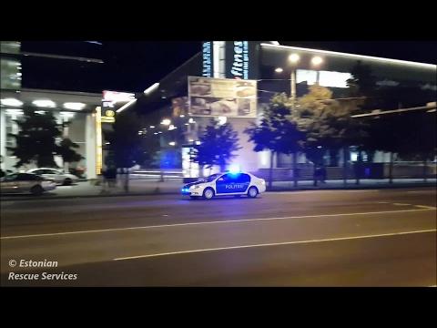 [Politsei] Police car responding in Tallinn