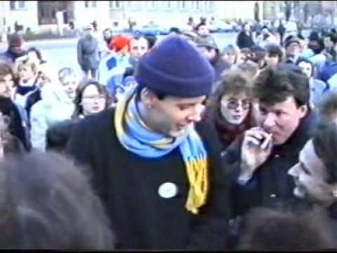 Břeclav 1989 - 10.část - oslava zvolení prezidenta ČSFR