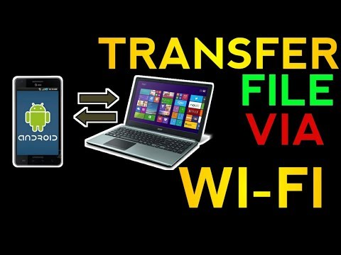 how to transfer photos or files from phone to pc or laptop using wifi