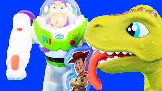 Toy Story 4 Toys Play-doh Toy Set With Buzz Lightyear ! Woody ! T-Rex Dinosaur